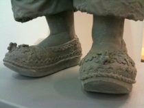 broderie anglais shoes sculpture