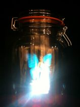 fairy light in a jam-jar