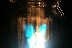 fairy light in a jam-jar
